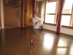 床の傾斜の測定