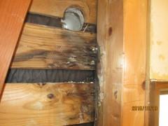 エアコン穴の漏水