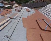 屋根の軽量化ースレート葺き