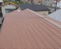 屋根の軽量化ースレート葺き完成