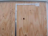 耐力壁の設置-構造用合板ビス間隔の確認