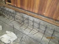 基礎の補強-鉄筋組