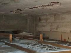 天井からコンクリートが落下