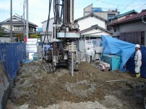 柱状地盤改良工事